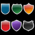 Metal shields set Royalty Free Stock Photo