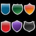 Metal shields set Royalty Free Stock Image