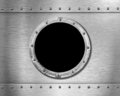 Metal ship porthole Stock Images