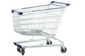 Metal shipping trolley Stock Image