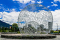Metal sphere sculpture in park Quito Ecuador South Royalty Free Stock Photo
