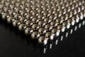 Metal spheres closeup Royalty Free Stock Photo