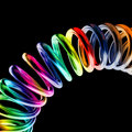 Metal spring background rainbow Royalty Free Stock Photography