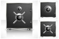 Metal square safe with combination lock vector illustration Stock Photo