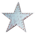 Metal star with lamps Royalty Free Stock Photo
