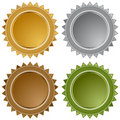 Metal Star Seals Stock Photo
