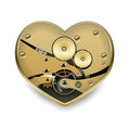 Metal steampunk heart with gears eps Royalty Free Stock Photo