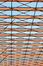 Metal structure a grid of an unfinished building Royalty Free Stock Images