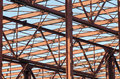 Metal structure a grid of an unfinished building Royalty Free Stock Photo