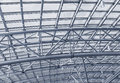 Metal structures on the roof of the shopping complex background toning Royalty Free Stock Photos