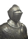 Metal suit of armor isolated. Royalty Free Stock Photo