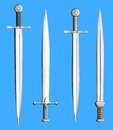 Metal swords collection isolated Royalty Free Stock Photo