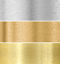 Metal texture background gold silver bronze collection Stock Image