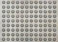 Metal texture circle pattern on metallic Background pattern Royalty Free Stock Photo