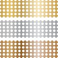 Metal texture with holes. The texture of gold, silver and bronze with holes. Mesh made of metal. Royalty Free Stock Photo