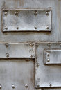 Metal texture structure of old with screw close up Stock Photography