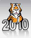 Metal Tiger 2010 Royalty Free Stock Image
