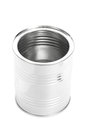 Metal Tin Can, Canned Food, isolated on white background Royalty Free Stock Photo