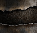 Metal torn edges background Royalty Free Stock Photo