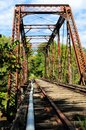 Metal train bridge Stock Image