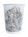 Metal Trash Bin Royalty Free Stock Photos
