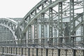 Metal Truss Bridge Royalty Free Stock Photos