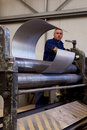 Metal tube fabrication Stock Image