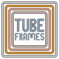 Metal tube frames Royalty Free Stock Photo