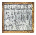 Metal type alphabet Royalty Free Stock Photography