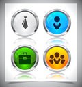 Metal web buttons vector eps cool color shiny illustration Royalty Free Stock Image