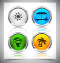 Metal web buttons vector eps cool color shiny illustration Stock Photo