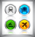 Metal web buttons vector eps cool color shiny illustration Stock Image