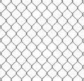 Metal wire fence d illustration Stock Image