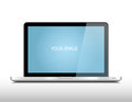 Metalic laptop with blank screen Royalty Free Stock Photos