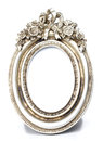 Metalic Oval Shape picture frame Royalty Free Stock Photo