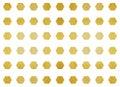 Metalic polygon shape tile Royalty Free Stock Photo