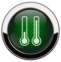 Metalic thermometer icon Royalty Free Stock Image