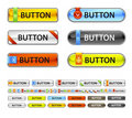 Metalic web button. Royalty Free Stock Photos