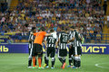 Metalist de match de football contre le paok Image stock