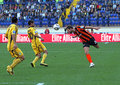 Metalist Kharkiv contre le match de football de Shakhtar Images stock