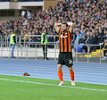 Metalist Kharkiv contre le match de football de Shakhtar Images libres de droits