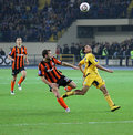 Metalist Kharkiv vs Shakhtar football match Stock Images