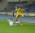 Metalist Kharkiv vs Volyn Lutsk football match Royalty Free Stock Images
