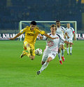 Metalist Kharkiv vs Volyn Lutsk football match Stock Photo