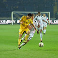 Metalist Kharkiv vs Volyn Lutsk football match Stock Photography