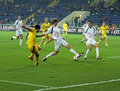 Metalist Kharkiv vs Volyn Lutsk football match Royalty Free Stock Image