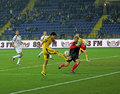 Metalist Kharkiv vs Volyn Lutsk football match Stock Image
