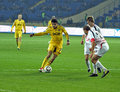 Metalist Kharkiv vs Volyn Lutsk football match Royalty Free Stock Photography