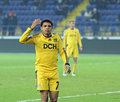 Metalist Kharkiv vs Volyn Lutsk football match Stock Photos