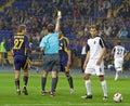 Metalist vs Zorya football match Royalty Free Stock Photos